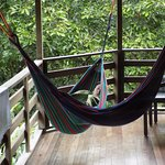 Napping on the balcony hammock