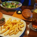 Gourmet Burger and Sirloin Caesar
