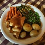 Magnificent steak pie and homity pie dinners - £7 each!