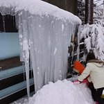 kids love to play with huge icicles.