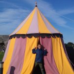 tent at the top of Athlone castle