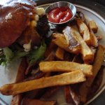 the Nola Burger with fries