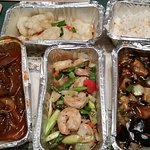 Selection of take-away dishes