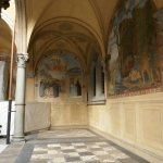 Frescos at the entrance to the church