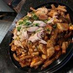 Menu/Chicken roasting openly/Piri-Piri Poutine with Chicken