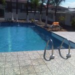 The clean and well maintained swimming pool