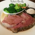 Prime Rib with broccoli and carrots