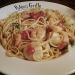 Shrimp and Scallop Scampi with pasta