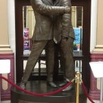 Morecambe & Wise statue, Winter Gardens Blackpool