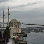 Lovely view of the Ortaköy Mosque and Bosphorus Bridge from the room