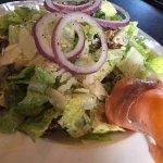Caesar salad with smoked salmon