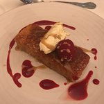 Beautiful supper club at Lawrie's!Would thoroughly recommend.Treacle tart with clotted cream a h