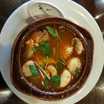Tom Yum, salty & spicy but good