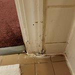 the bathroom door jam