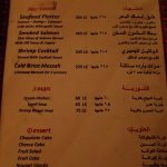 Their menu (extras)