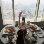 In-room breakfast while enjoying the view