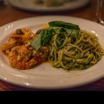 Scampi with pesto