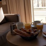 Le petit déjeuner dans notre suite, très agréable!!!