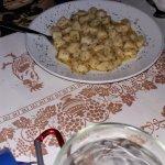 Gnocchi with garlic and chili sauce!