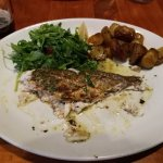 I should have taken the picture before I dived in. The Sea Bass was really great!