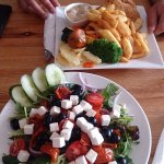 Greek Salad, Chicken Schnitzel
