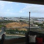 vom Balkon der Lounge / die Baustelle