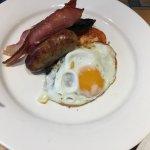 Kolacja była tak dobra że wróciliśmy na śniadanie😉 Ian zamówił tradycyjne śniadanie angielskie