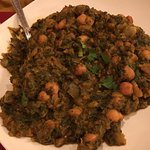 Chaana Paalak (Chickpeas and Spinach)