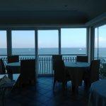 Panorama dalla sala interna dove attendeva la colazione a buffet