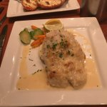 coconut crusted mahi-mahi, lobster and crab cake special