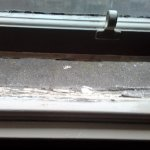 Rotted window frame