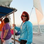 "Sherry of the Sunset Sail on the Sailing Catamaran ""Sirius"" in Marathon FL"