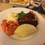 Absolutely excellent service and food....no complaints from me at all(and I'm normally very fuss