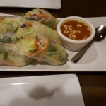 fresh salad rolls with peanut sauce