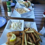 Fish Tacos, Fried Mahi Platter with Fresh Cut Fries and Tropical Cole Slaw! They were so good!