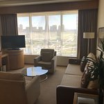 Living room in our 15th floor suite