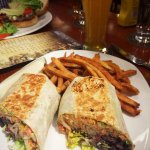 Black Bean Wrap and Fries