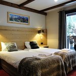 Chambre Double côté Mont-Blanc avec Balcon