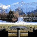 Chambre Double côté Mont-Blanc avec accès jardin