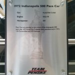 Details of the Pace Car