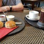 Cream tea in the bar