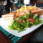 Sandwich club aux 2 saumons