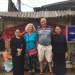 Thailand-Loie: together with the owners of weaving factory