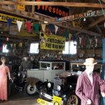 over-all view as you enter the main museum building - showing original cars & clothing