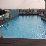 The rooftop pool - stunning even on a cloudy day!