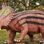 Life size dinosaur reproductions are available on the Museum grounds