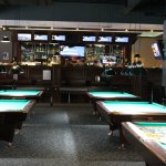 Expansive Pool Hall and Bar