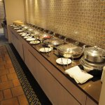 One part of the large breakfast buffet.