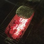 Noche de asado en el patio