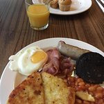 Breakfast including some of the cooked and continental options available